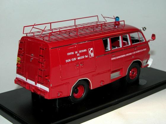 Citroen Typ 350 1966 Belphégor Guinard Sapeurs Pompiers Rood 1/43 Autocult Limited 333 Pieces