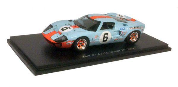 """Ford GT40 #6 Winner 24 Hrs Le Mans 1969 """"Gulf"""" J.Ickx/ J.Oliver 1/43 Spark"""