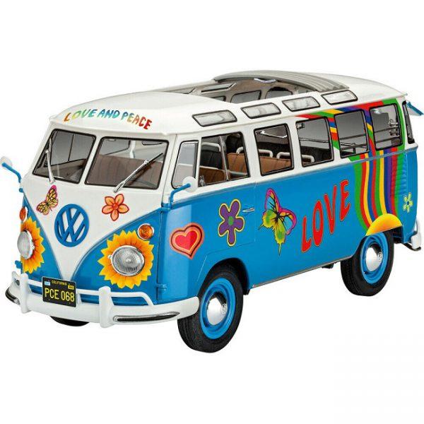 "Volkswagen T1 Samba Bus ""Flower Power"" 1-24 Bouwdoos Revell"