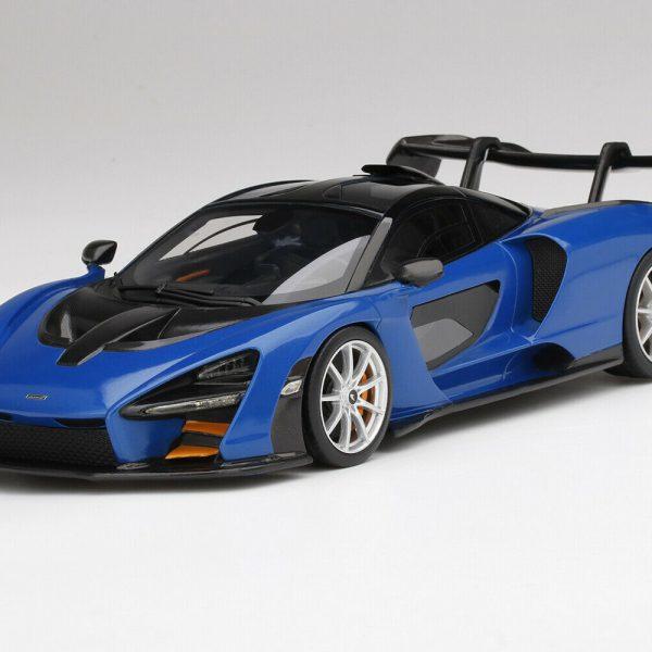 McLaren Senna 2020 Antares Blue 1-18 Top Speed ( Resin )