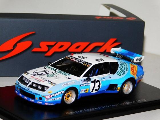 Renault Alpine A310 #73 Test Le Mans 1978 D.Morin / G.de Saint Pierre 1-43 Spark