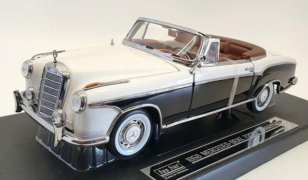 Mercedes Benz 220 SE 1958 Open Convertible Ivory/Black 1-18 Sun Star