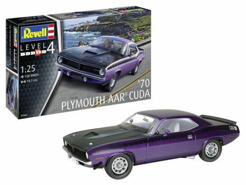 Plymouth AAR Cuda '70 Classic Car Plastic Model Kit Scale 1/25 Revell