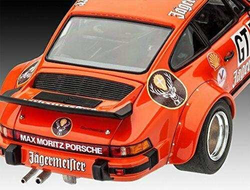 """Bouwdoos Porsche 934 RSR """"Jagermeister"""" #53 Oranje 1-24 Revell"""