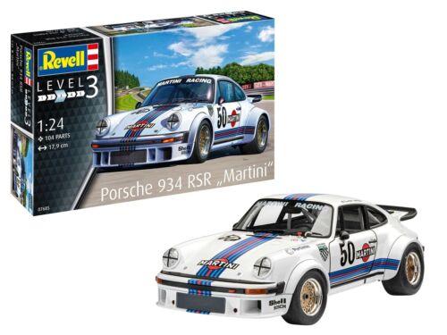 """Porsche 934 RSR #50 """"Martini Racing"""" Plastic Model Kit 1-24 Revell"""