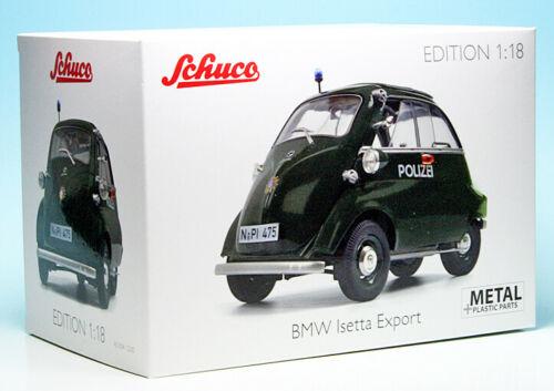 """BMW Isetta Export """"Polizei"""" 1955 1/18 Schuco ( Metaal )"""