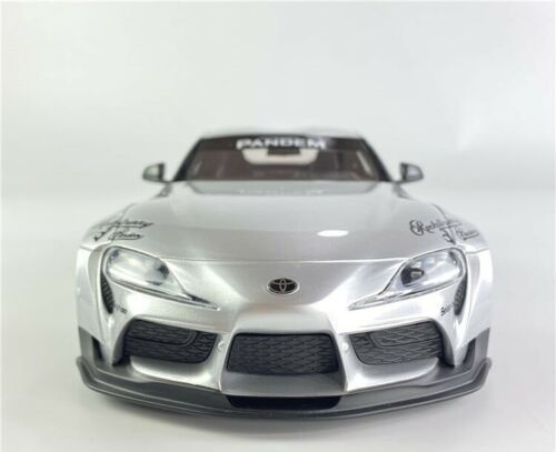 Pandem Toyota GR Supra V1.0 Silver 1-18 Topspeed ( Resin )