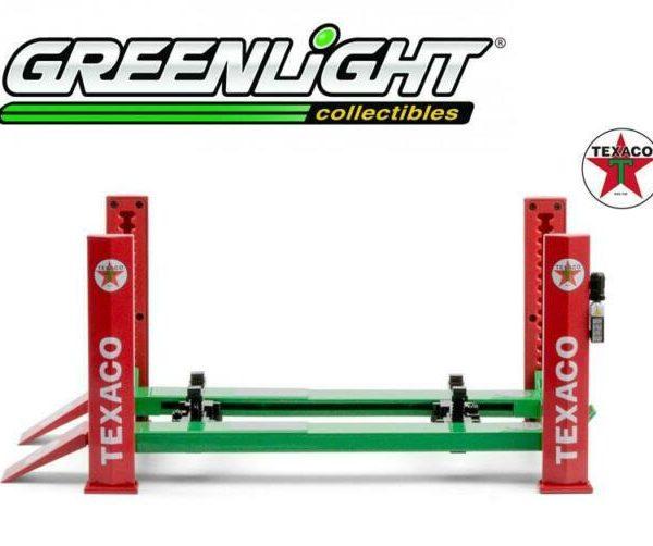 Adjustable Four-Post Lift Texaco 1-18 Groen/Rood Greenlight