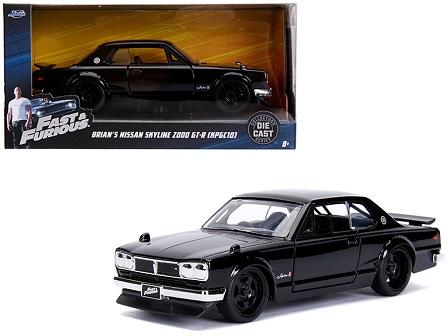"Nissan Skyline 2000 GT-R ( KPGC10 ) ""Brian's"" 'Fast & Furious' Zwart 1/32 Jada Toys"