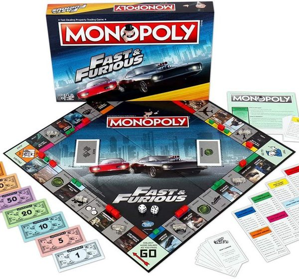 """Monopoly """"Fast & Furious"""" Bordspel - Speciale Monopoly Fast & Furious uitgave Hasbro"""
