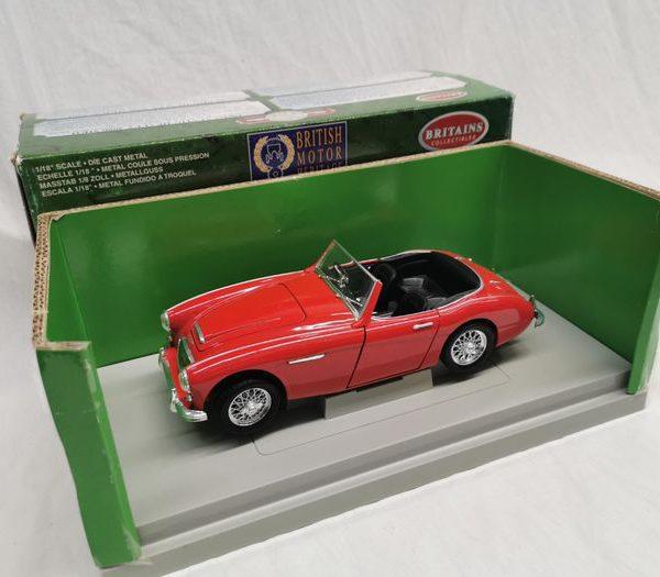 Austin Healey 3000 MKII 1961 Rood 1-18 Ertl Britains Collectibles