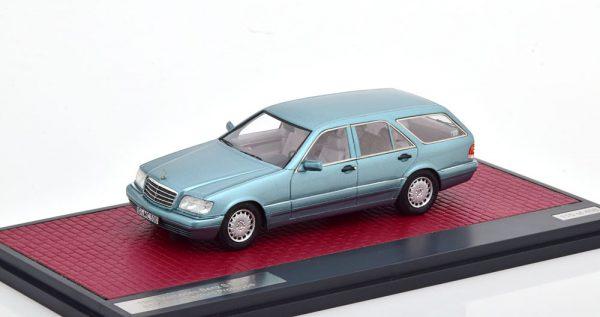 Mercedes-Benz S500T S140 Prototyp Binz/Cadford 1995 Blauw Metallic 1-43 Matrix Scale Models Limited 408 pcs.