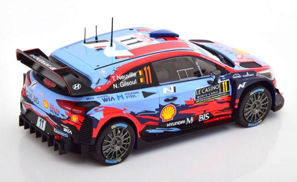 Hyundai i20 Coupe WRC Nr.11, Rally Monte Carlo 2019 Neuville/Gilsoul 1-24 Ixo Models