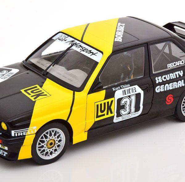 BMW M3 E30 No.31, DTM 1988 K.Thiim Zwart / Geel 1-18 Solido