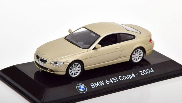 BMW 645i Coupe 2004 Pearl Zilver 1-43 Altaya Supercars Collection
