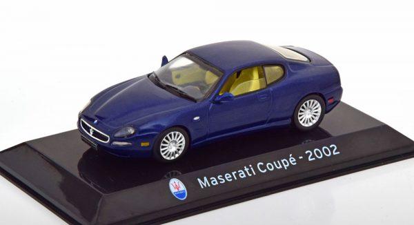 Maserati Coupe 2002 Blauw Metallic 1-43 Altaya Supercars Collection