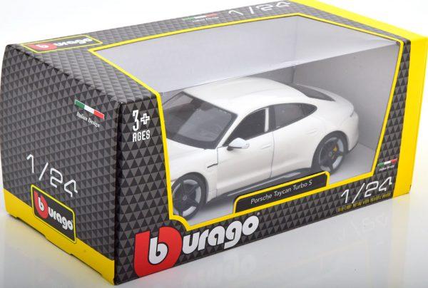 Porsche Taycan Turbo S 2020 Wit 1-24 Burago