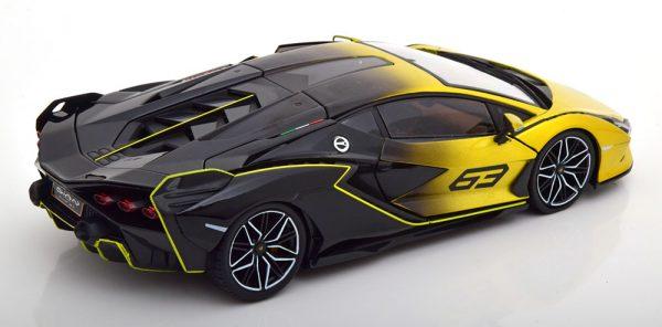 Lamborghini Sian FKP37 2021 Geel Metallic / Zwart 1-18 Burago