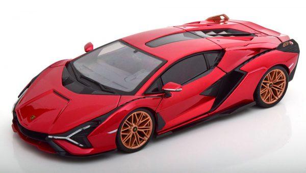 Lamborghini Sian FKP37 2020 Rood Metallic 1-18 Burago