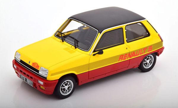 Renault 5 TS Rally Monte Carlo 1978 Geel / Rood / Zwart 1-18 Ottomobile Limited 2000 Pieces ( Resin )