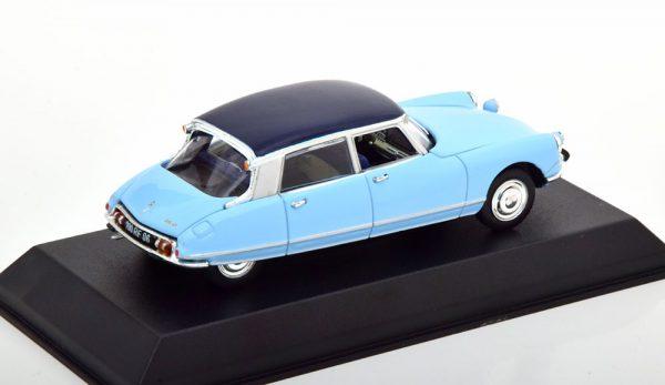Citroen DS 21 Pallas 1967 Lichtblauw / Blauw 1-43 Norev
