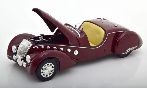 Peugeot 302 Darl`Mat 1937 Donkerrood 1-18 Norev