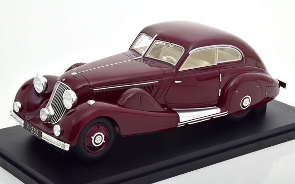 Mercedes-Benz 500K Special Streamlined car 1935 Maroon 1-18 Matrix ( Resin )