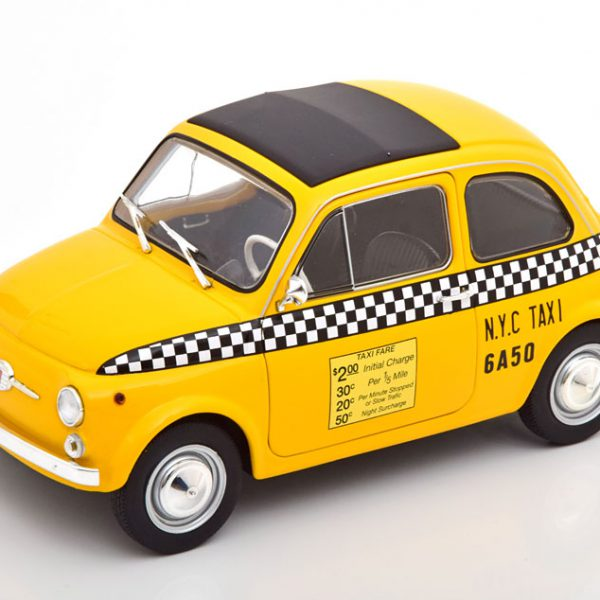 """Fiat 500 L Taxi """"New York City"""" 1965 Geel 1-18 Solido"""