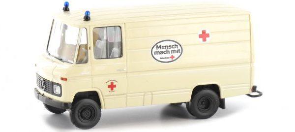 """Mercedes-Benz L 406 D Kasten """"DRK"""" Beige 1-87 Brekina"""
