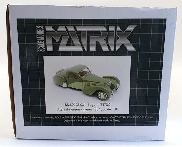 Bugatti T57SC Atalante 1937 Groen 1-18 Matrix Scale Models ( Resin )