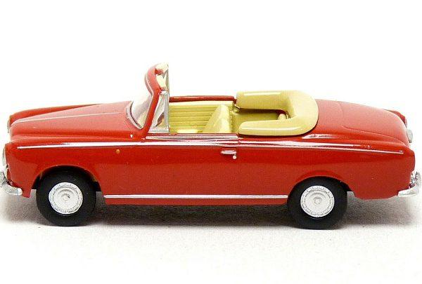 Peugeot 403 Cabriolet Rood 1-87 Brekina