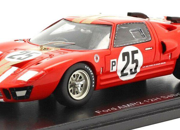Ford GT 40 AMRII #25 12Hrs Sebring 1966 Whitmore/Gardner Rood 1/43 Spark