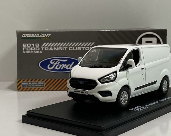 Ford Transit Custom 2018 V362 MCA Wit 1-43 Greenlight Collectibles
