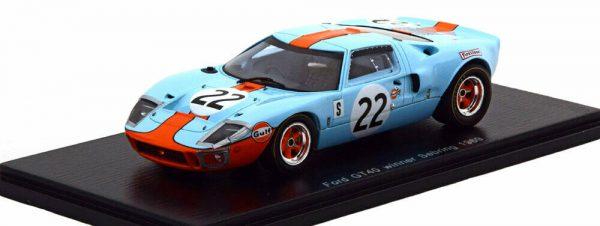 "Ford GT40 #22 Winner 12Hrs Sebring 1969 ""Gulf"" J.Ickx/J.Oliver 1/43 Spark"