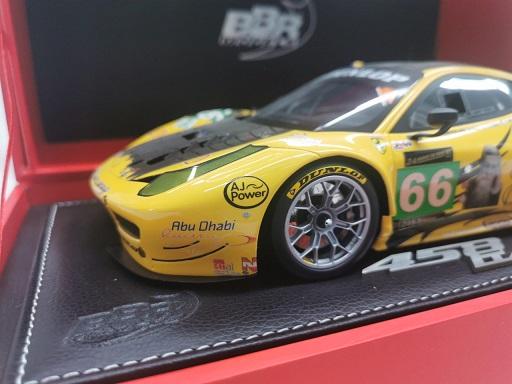 Ferrari 458 Italia GT2 GTE PRO 24 Hrs Le Mans 2013 JMW Motorsport Car Nr #66 Geel 1-18 BBR Models Limited 80 Pieces