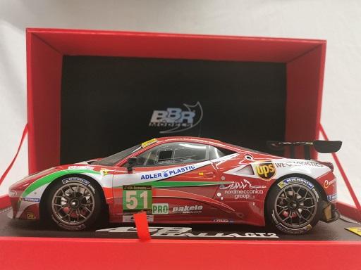 Ferrari 458 GT2 PRO AF Corse Le Mans 2013 Rood 1-18 BBR Models Limited 80 Pieces