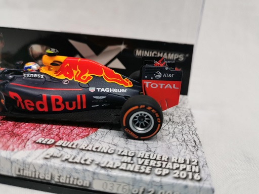 Red Bull Racing TAG Heuer RB12 Max Verstappen 2nd Place Japanese GP 2016 Minichamps Limited 2000 Pieces