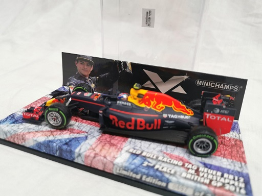 Red Bull Racing TAG Heuer RB12 Max Verstappen 2nd Place British GP 2016 Minichamps 1-43 Limited 2000 Pieces