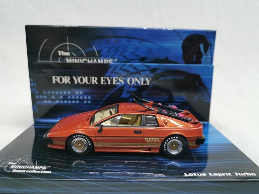 "Lotus Esprit Turbo ""James Bond 007"" For Your Eyes Only Bruinoranje 1-43 Minichamps Bond Collection"