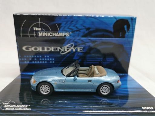 "BMW Z3 ""James Bond 007"" Goldeneye Blauw 1-43 Minichamps Bond Collection"