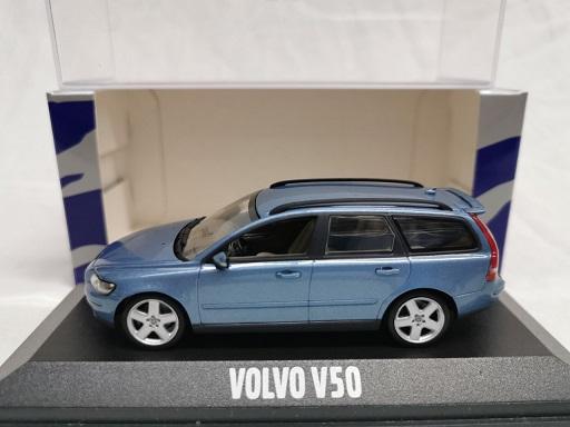 Volvo V50 2005 Blauw Metallic 1-43 Minichamps