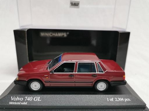 Volvo 740 GL 1986 Bordeaux Rood 1-43 Minichamps Limited 2304 Pieces