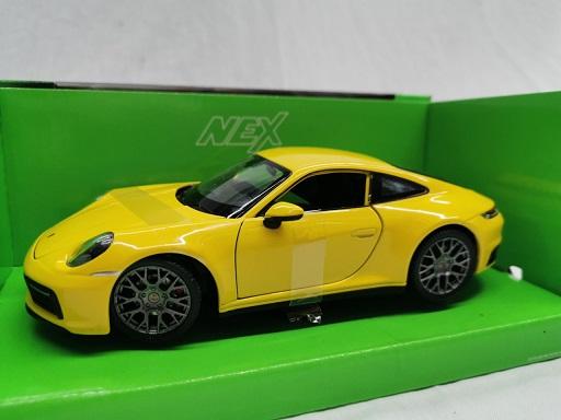 Porsche 911 ( 992 ) Carrera 4S 2020 Geel 1-24 Welly