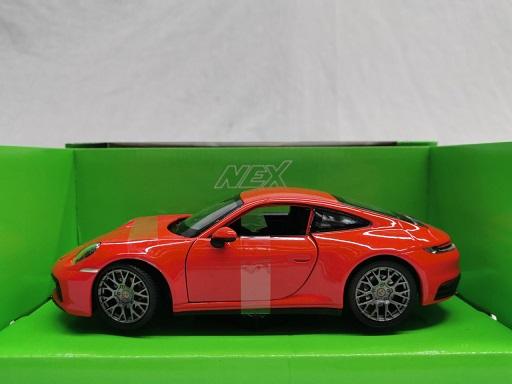 Porsche 911 ( 992 ) Carrera 4S 2020 Rood 1-24 Welly