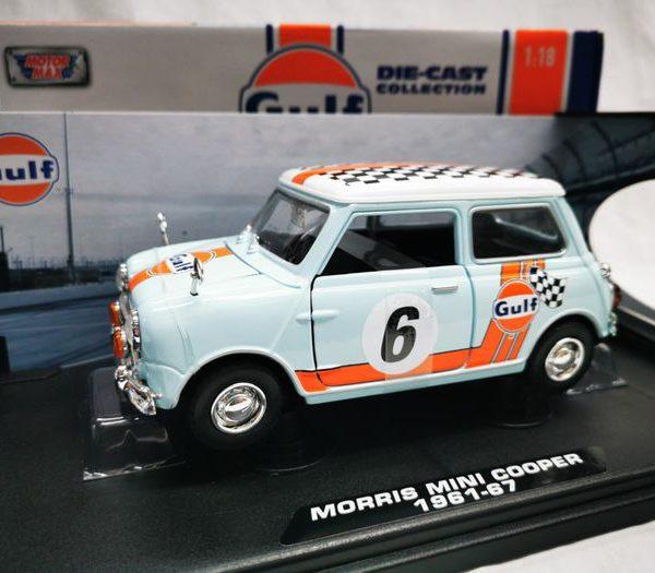 Morris Mini Cooper 1961-67 #6 Gulf 1-18 Motormax