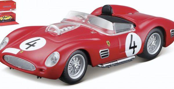 Ferrari 250 Testarossa #4 1000 km Nurburgring 1959 P.Hill / Gendebien Rood 1-43 Burago Signature Series