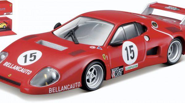 Ferrari 512 BB II #15 1981 Rood 1-43 Burago Signature Series