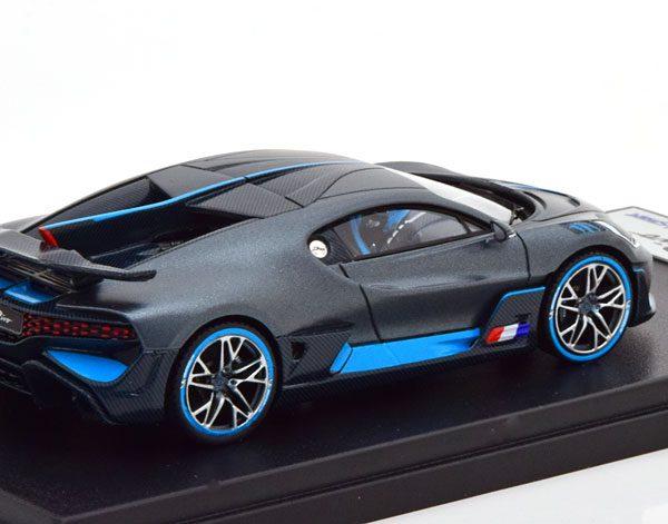 "Bugatti Divo 2018 ""The Quail Configuration"" Grijs / Blauw 1-43 Looksmart ( Resin )"