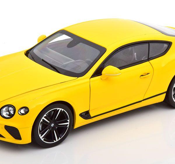 Bentley Continenal GTC 2018 Geel 1-18 Norev