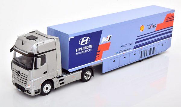 "Mercedes-Benz Actros MP4 2019 ""WRC Rally Transport Hyundai Motorsport"" 1-43 Ixo Models"